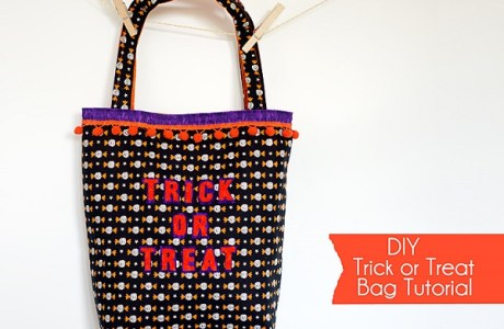 Tutorial: Pom pom trim Trick or Treat bag