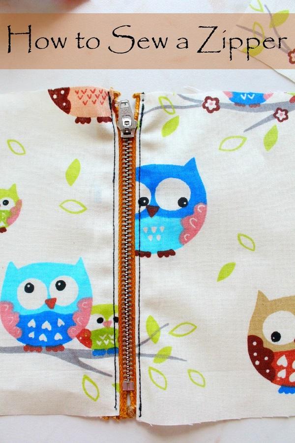Tutorial: Sew a simple zipper
