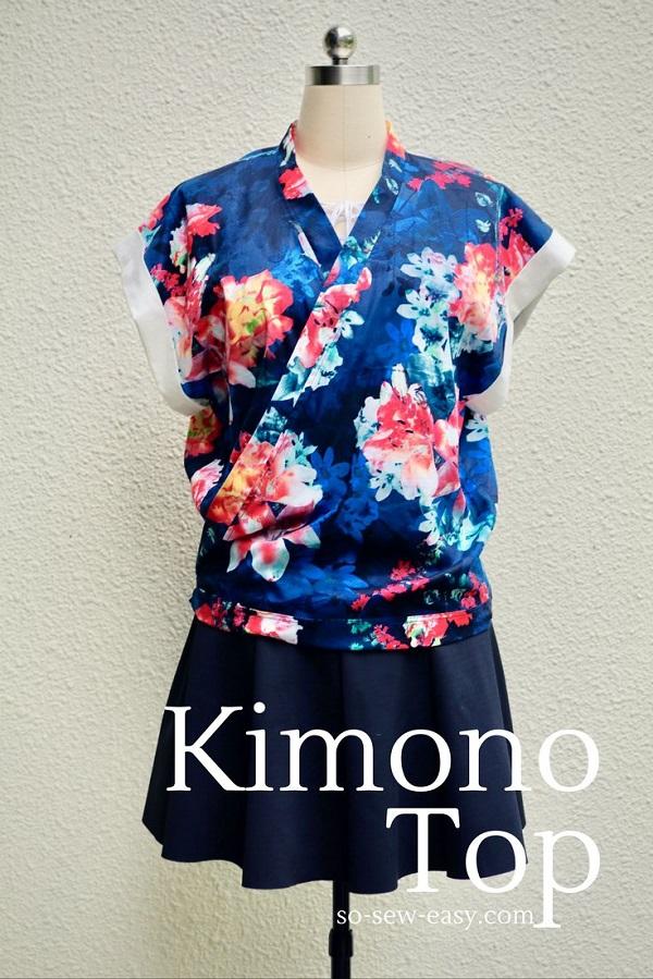 Free pattern: Loose fit kimono top