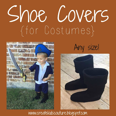 Tutorial: Make shoe covers to complete your Halloween costume