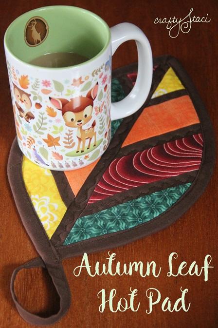 Tutorial: Autumn leaf hot pad from fabric scraps