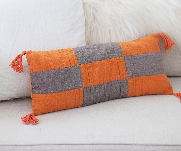 Tutorial: Modern Boho patchwork pillow