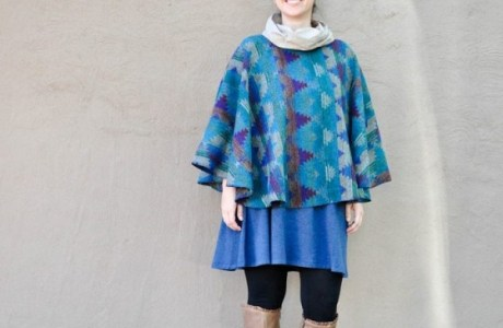 Tutorial: Cowl neck poncho cape