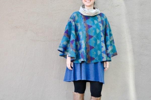 Tutorial: Cowl neck poncho cape