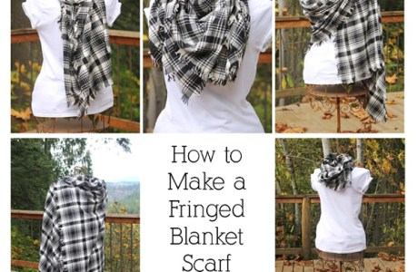 Tutorial: Fringed blanket scarf