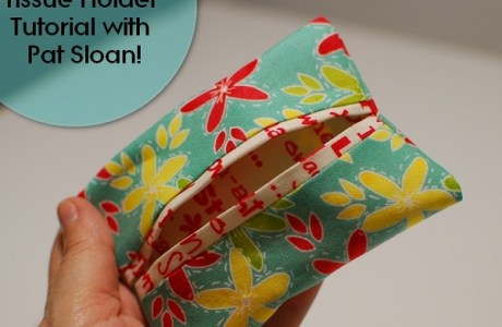 Tutorial: Easy fabric travel tissue holder