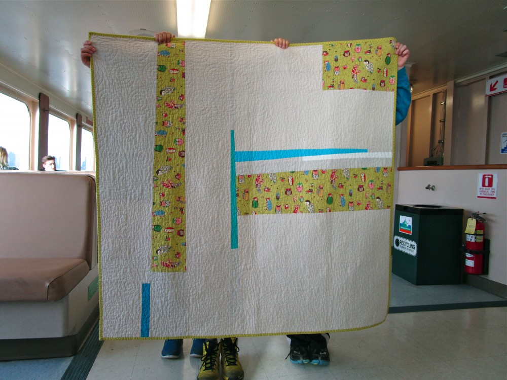 SEW KATIE DID:Night Owl Quilt Back