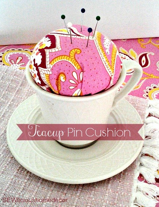 teapot pin cushion tutorial Easy Sewing Machine Organizer Tutorial