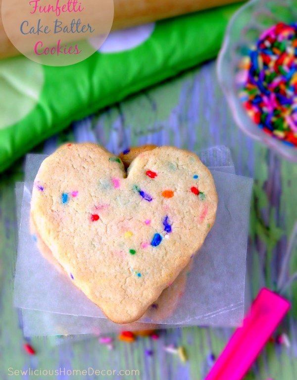 Funfetti Cake Batter Cookies at sewlicioushomedecor.com  DIY Funfetti Candles Made from Candy Sprinkles