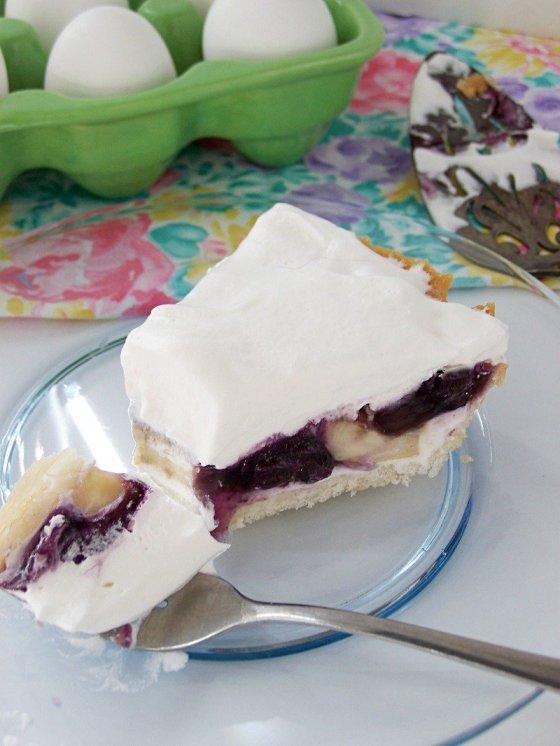 blueberry pie No Bake Blueberry Banana Cream Pie