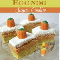 Candy Corn Egg Nog Sugar Cookies