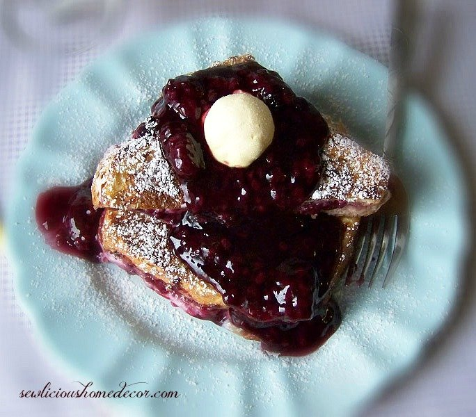 Blackberry Stuffed French Toast breakfast  sewlicioushomedecor.com