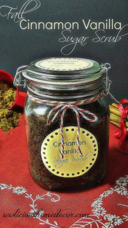 Cinnamon Vanilla cocnut oil honey sugar scrub Peppermint Candy Cane Sugar Scrub with Labels