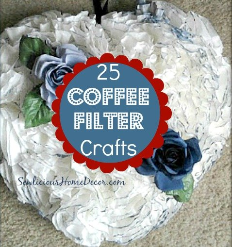 25 Coffee Filter Crafts Coffee Filter Wreath Tutorial