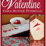 10 Free Valentine's Day Table Runner Tutorials