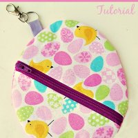 Easter Egg Zipper Pouch with Key Holder Tutorial