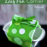 DIY Insulated Loaf Pan Carrier Using A Kitchen Towel