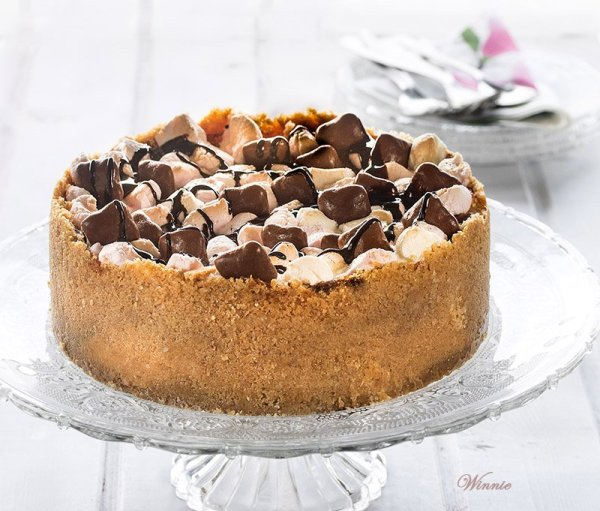 עוגת גבינה עם מרשמלו ושוקולד ציפס ב Saturday SHOW=licious Craft and Recipe Showcase
