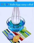 Color Easter Eggs using a whisk