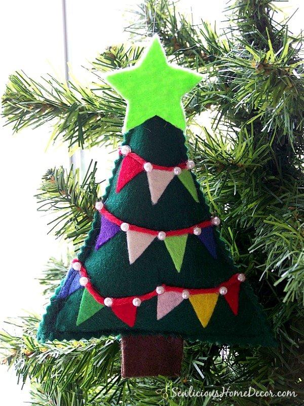 Felt Bunting Christmas Tree Ornament Tutorial Kit