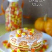 Halloween Buttermilk Candy Corn Pancakes  by sewlicioushomedecor.com