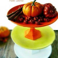 3 Tier Candy Corn Plate Stand