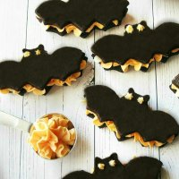 Bat Velvet Halloween Oreo Cookies