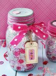 DIY Confetti Glitter Valentine Mason Jars