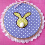 Easter Bunny Embroidery Hoop Wall Art Decor