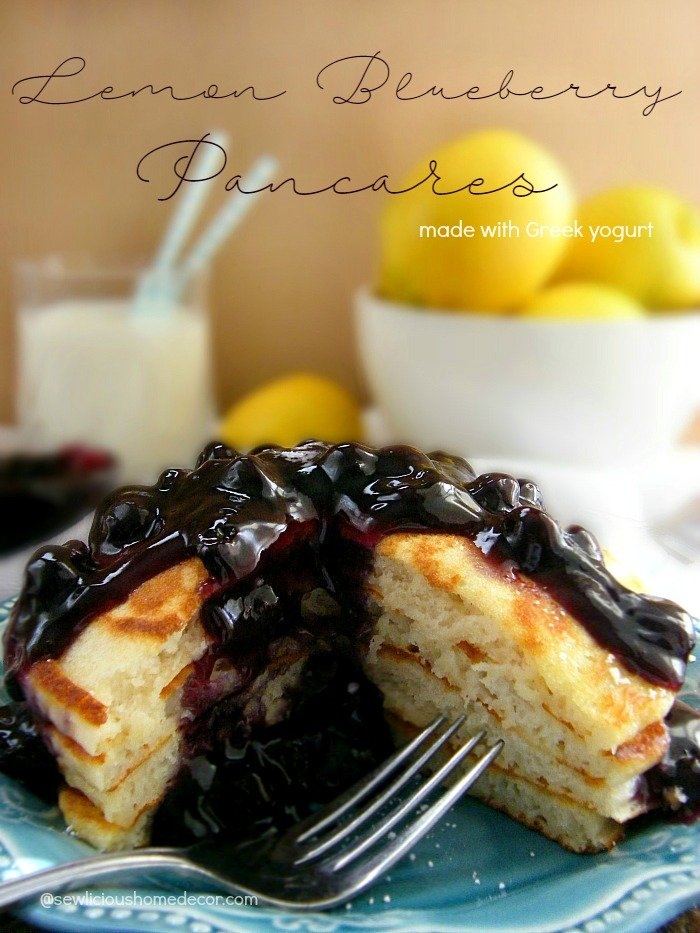 Light and Fluffy Lemon Blueberry Pancakes Made with Lemon ...