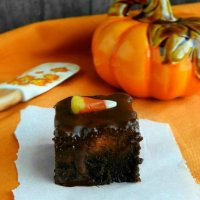 Frosted Pumpkin Pie Brownies
