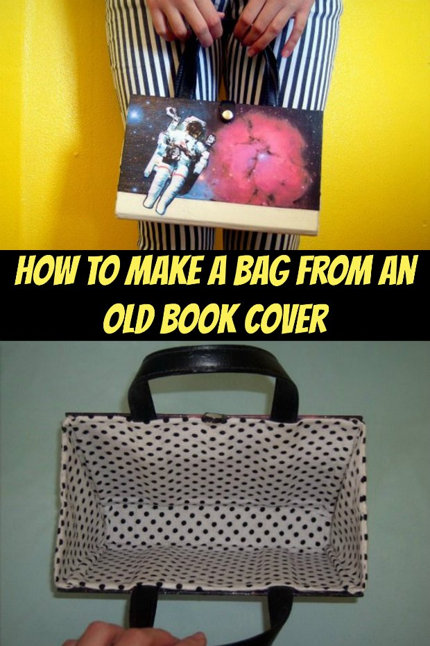 How To Make A Book Bag ~ Upcycle an old book into a smart bag sew modern bags