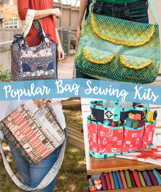 With fabrics expertly co-ordinated, these bag sewing kits make it easy! Everything you need in one package including the pattern and the prices are excellent!