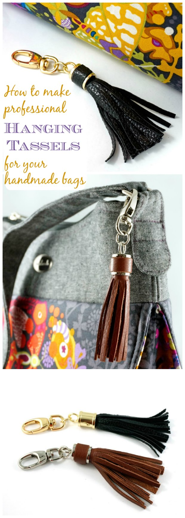 How to make tassels for your handmade bags.  You can also use suede and narrow suede cord for this too.
