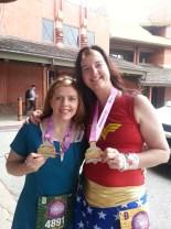 2013 Disney Princess Half Marathon - Merida and Wonder Woman