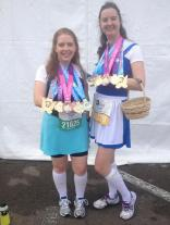 2014 Disney Princess Half Marathon - Belle & Ariel in their town dresses