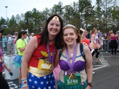 2012 Disney Princess Half Marathon - Ariel and Wonder Woman