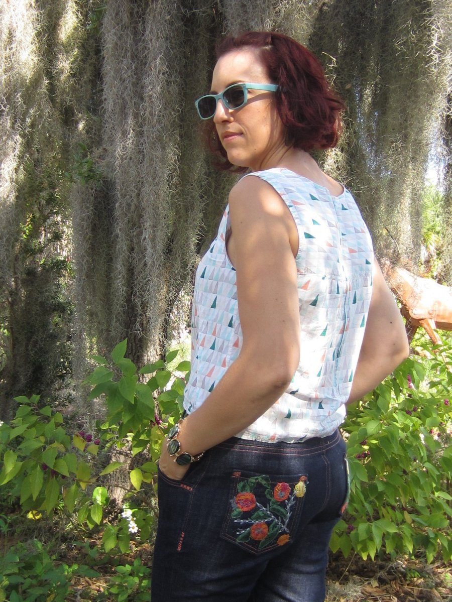 Organic Denim Jeans + Embroidery