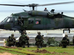 US Marines land at US embassy Monrovia, Liberia by Luc Gnago, Reuters