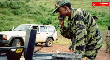 Gen. Kagame on satellite phone