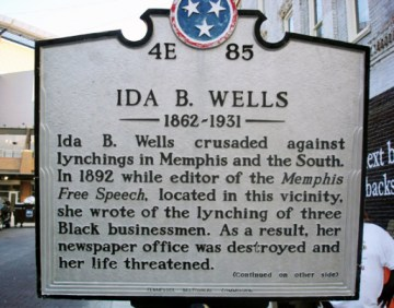 Ida B. Wells plaque in Memphis