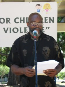 Morris Turner speaks at Standing for Children rally in Santa Rosa