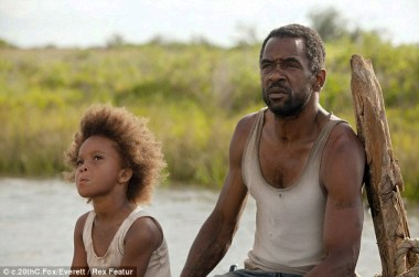 Quvenzhane Wallis as Hushpuppy, Dwight Henry as dad in 'Beasts of the Southern Wild'