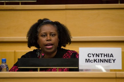 UN Meeting on Palestine, Cynthia McKinney speaks 042913 by Yosuke Kobayashi, web
