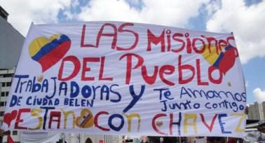 Venezuelan micro-missions support banner