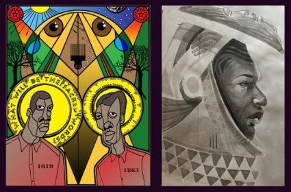 Afro-Futurism exhibit, Ajuan Mance, Nyame Brown