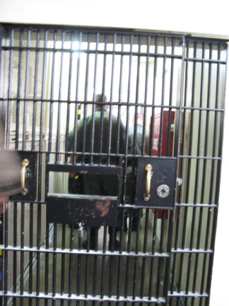 Guards begin cell extraction to search for letters being passed on tier 0313 San Quentin Adjustment Center by LifeoftheL