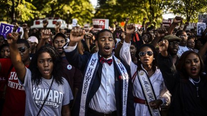 Howard University students march from campus to Lincoln Memorial 50th anniversary March on Washington by James Lawler Duggan, Reuters
