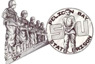 'Pelican Bay State Prison SHU' drawing by R. Garcia