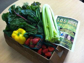 SOS Juice fresh produce box